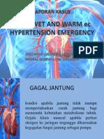 Adhf Wet and Warm Ec Hypertension Emergency