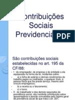 Contribuições Sociais Previdenciárias