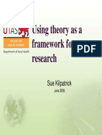 Using Theory as a Framework for Research