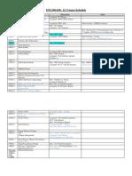 Schedule Engineering 100 Fall 2011