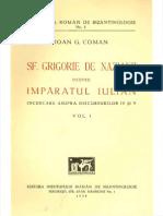 Ioan G. Coman - Sf. Grigorie de Nazianz despre împăratul Iulian