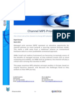 European Channel MPS Priorities