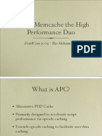APC & Memcache the High Performance Duo