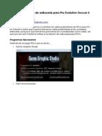 Tutorial de Edicion de Adboards Para Pro Evolution Soccer 6 Para Pc Pes 6