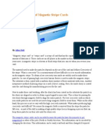 Special Features of Magnetic Stripe Cards