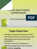 Tugas Dan Fungsi Supervisor