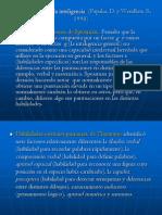 Algunas teorías de la inteligencia  (Papalia,