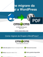 Come migrare da Drupal a WordPress