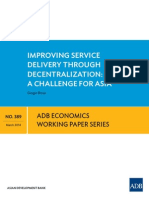 Improving Service Delivery through Decentralization