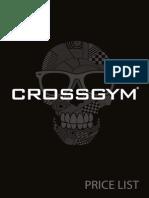 PRICE LIST CROSSGYM FIBO 2014