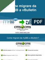 Come migrare da myBB to vBulletin