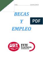 Boletín de becas y empleo. Semana del 24 de marzo de 2014