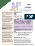 AP Pre AP Summer Flyer 2014