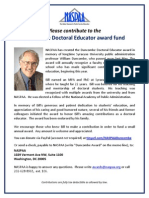 Duncombe Doctoral Education Fund Flyer