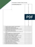 Questionnaire for Counter-Productive Work Behaviour