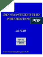 Alain Pecker -- Rion Antirion (Presentation)