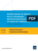 Reserve Bank of India's Policy Dilemmas