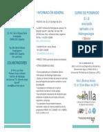 """1ª edición Curso de Postgrado """"SIG avanzado aplicado a la hidrogeología"""" - FOLLETO"""