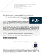10 Job Satisfaction in Private Banking Sector of Pakistan