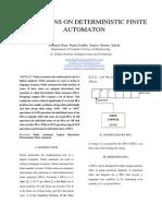 Operations on Deterministic Finite Automaton