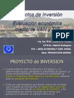 Conceptos básicos de Proyectos, VAN y TIR