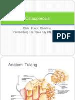 Osteoporosis Ppt / edelyn christina