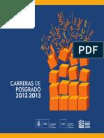 Unc Carreras de Posgrado 2012-2013