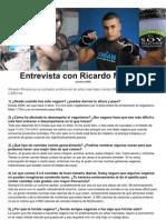 Entrevista con Ricardo Moreira ESPAÑOL