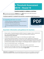 Threshold for those have NOT been subject to the 2006 Performance Management (PM) Regulations - TAF Round 10 England and Wales (English)