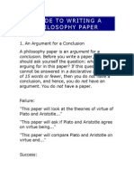 GUIDE TO WRITING A PHILOSOPHY PAPER.doc