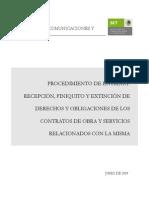 Entrega y Fin de Obra MP-200-PR03-P11-I00