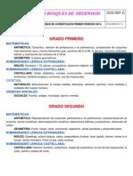 TEMÁTICAS PRUEBAS DE ACREDITACION PRIMER PERIODO AÑO LECTIVO 2014 PARA COMPARTIR