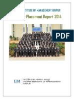 IIM Raipur PGP 2013-15 Summer Placement Report