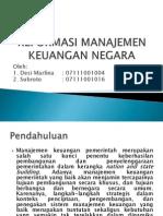 subroto Reformasi Manajemen Keuangan Negara