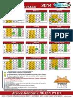 Calendari Recollida de fem - Vall Albaida 2014