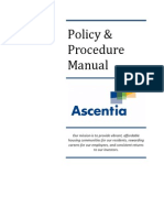 Ascentia Policy & Procedure Manual