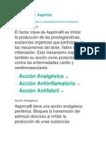 Acciones de Aspirina