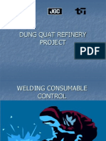 Welding Consumable Control