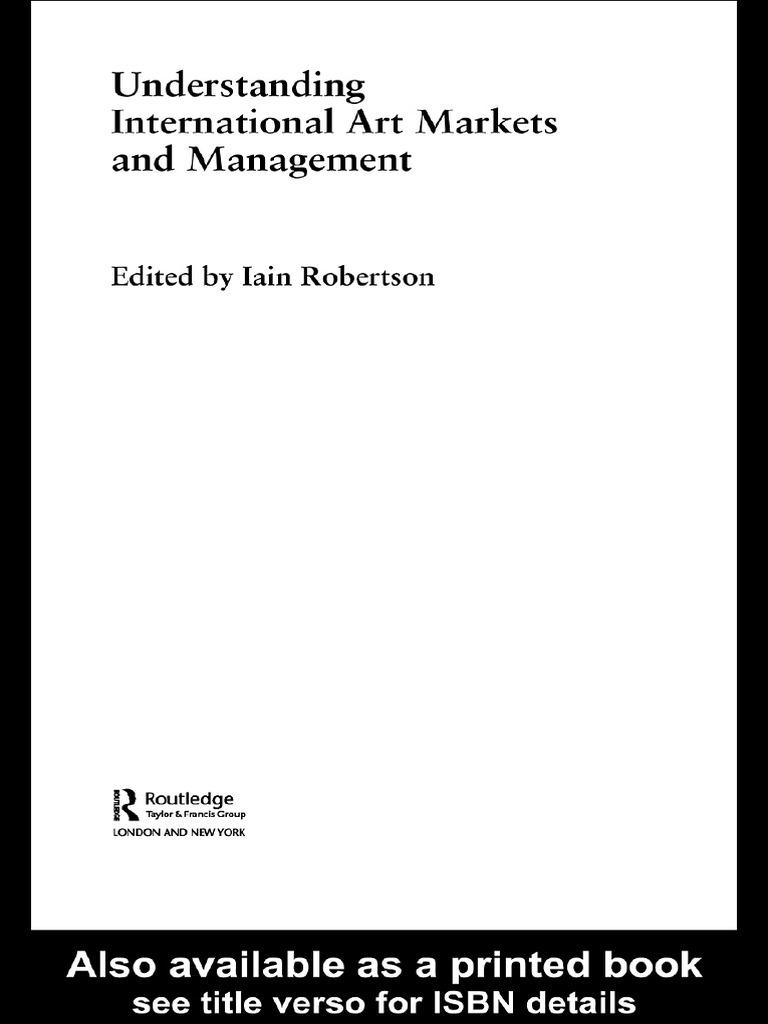 Understanding International Art Markets And Management  Value (economics)   Market (economics)