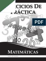 Ejercicios de Practica Matemáticas 2014