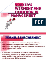 WORKER'S EMPOWERMENT AND PARTICIPATION IN MANAGEMENT