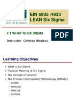 2.1 What is Six Sigma