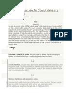 How to Clean an Idle Air Control Valve in a Honda Accord