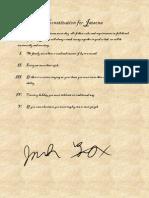 Constitution for Jatsona