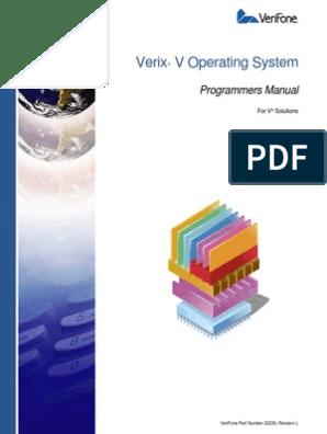 23230 Verix v Operating System Programmers Manual | Image Scanner
