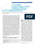 Comparative Evaluation of the Antibacterial Efficacy of Honey in Vitro and Antiplaque Efficacy in a 4-Day Plaque Regrowth Model in Vivo JOP2012-09