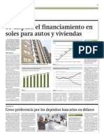 Se dispara financiamiento soles autos y viviendas_Gestión_25-03-2014