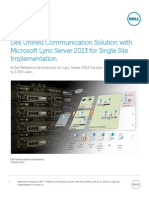 Dell UC Solution With Lync for Single Site Implementation