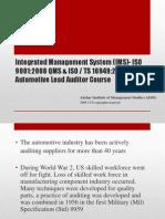 IMS-QMS & Automotive