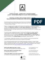 Press Release - Andrew Poppy's Staining Ensemble
